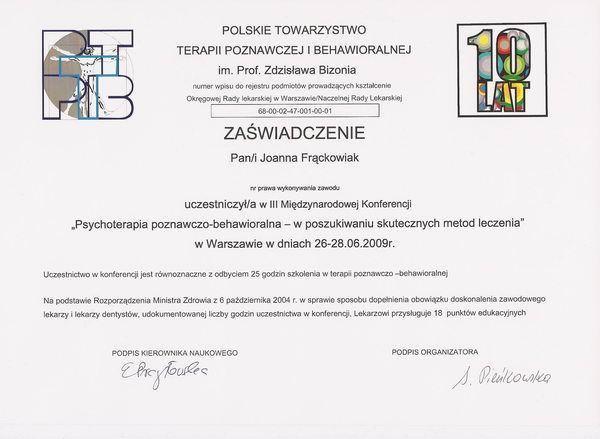 Konferencja Polskiego Towarzystwa Terapii Poznawczo-Behawioralnej